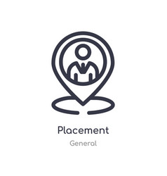 Placement outline icon isolated line from general vector