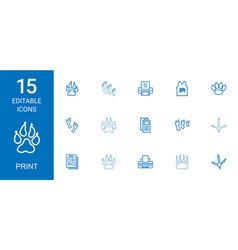 Print icons vector