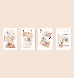 Set creative minimalist hand draw floral vector