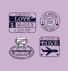set love seals icons vector image