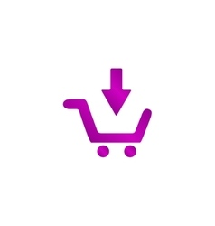 shopping cart Flat vector image