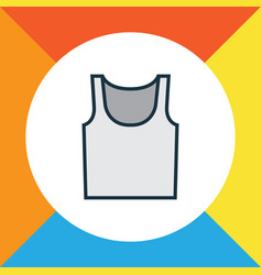 singlet colorful outline symbol premium quality vector image