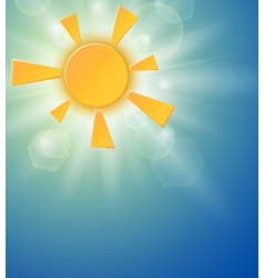 Summer background with a sun vector