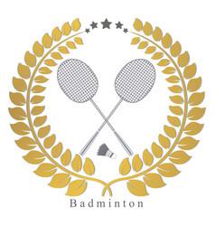the theme badminton vector image