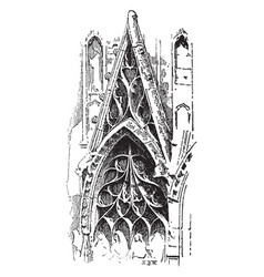 Tracery of rouen cathedral countless different vector