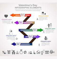 valentines day arrow infographic vector image
