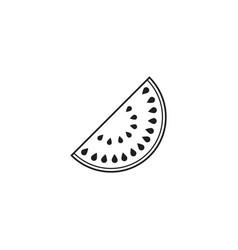 Watermelon line icon healthy fruit vector