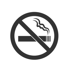 Webno smoking sign no smoke icon stop smoking vector