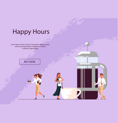 Website for coffee shop vector