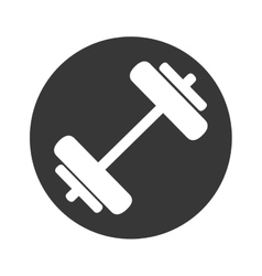Weight lifting gym accesory icon vector