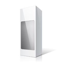 White packaging box for wine bottles vector