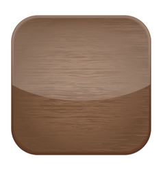 Wooden texture square icon vector