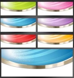 Premium Web Banners Set vector image vector image