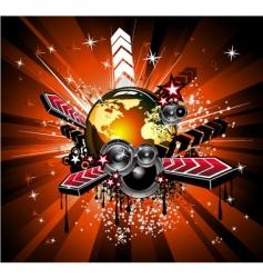 rainbow disco music vector image vector image