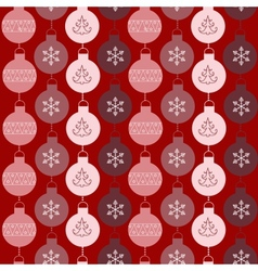 Seamless pattern with balls and snowflakes vector image