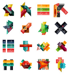 set of geometrical infographic templates vector image