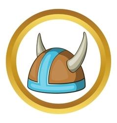 Swedish viking helmet icon vector