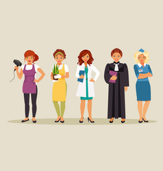 women professions 3 vector image