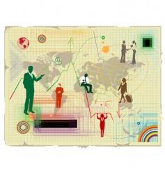 world financial crisis vector image vector image
