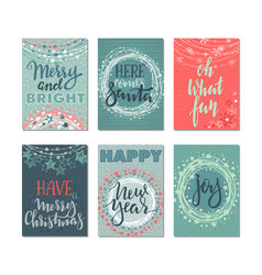 collection of six christmas cards vector image