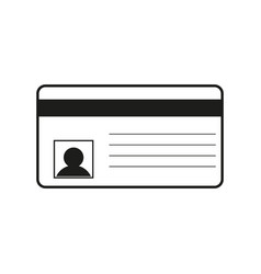 id card sign black icon on vector image vector image