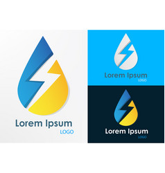 logo energy water vector image vector image