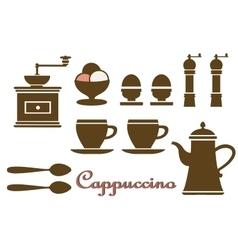 Set household kitchen vector image