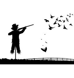 Shotgun scarecrow vector image