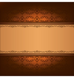 Vintage background with decorative ornament vector image vector image