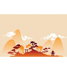 China landscape vector image vector image