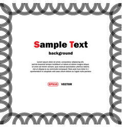 circle tire tracks frame with text vector image vector image