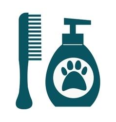 Dog hygiene icon vector image