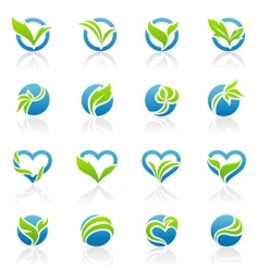 leaves logo templates vector image vector image