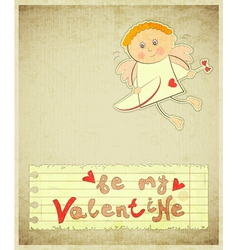 Retro Valentines Day Card vector image vector image
