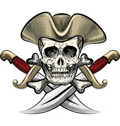 Skull in the hat vector