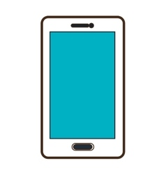 white smartphone graphic vector image vector image
