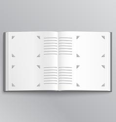 Blank photo album vector image