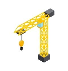 Construction crane icon isometric 3d style vector image