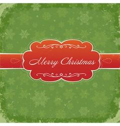 merry christmas grunge invitation vector image