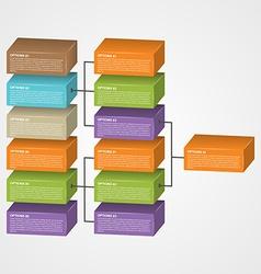 Organization chart template vector image vector image