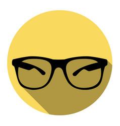 sunglasses sign flat black vector image