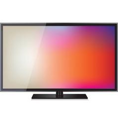 TV flat screen lcd plasma realistic vector image vector image