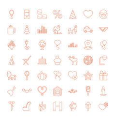 49 decoration icons vector image
