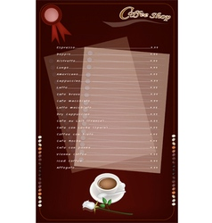 A Coffee Menu Templatefor Cafe and Coffeehouse vector