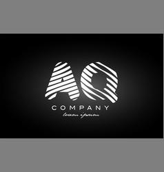A q letter alphabet logo black white icon design vector
