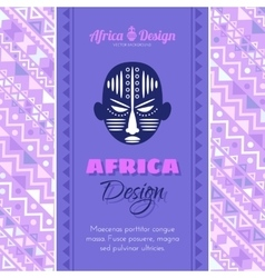 Abstract Background with African Mask vector