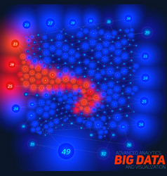 Abstract big data visualization with vector