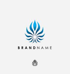 abstract elegant symbol logo design inspiration vector image