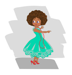 african american cute little girl vector image
