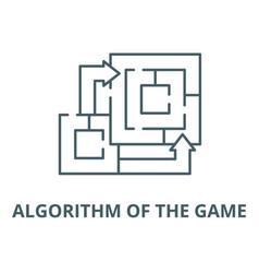 Algorithm game line icon outline vector